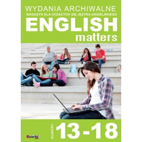 Wydania archiwalne English Matters 13-18 (płyta CD)