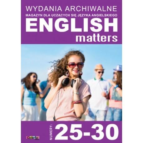 Wydania archiwalne English Matters 25-30 (płyta CD)
