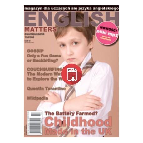English Matters 10/2008 Wersja Elektroniczna