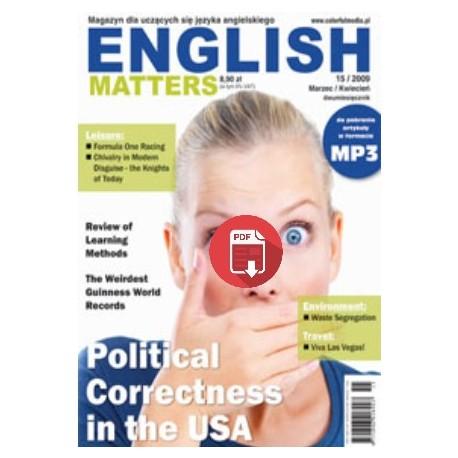 English Matters 15/2009 Wersja Elektroniczna